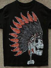 "187 Inc Men's T-shirt ""Chief Black Diamond"" -- Black / Red"