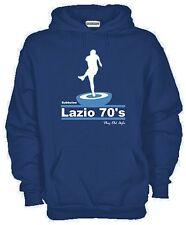 Felpa con cappuccio Lazio anni 70 KJ797 Subbuteo Style Ultras Curva Nord