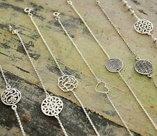 Armband Silber Floral Verspielt Sonne Herz Rose Kette Blume des Lebens Spirale