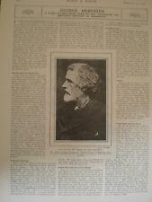 Photo article novelist writer George meredith 1908