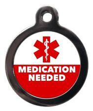Farmaci necessari Medical Alert Tag Pet-Pet ID Tag Incisa-Gratis-I DISCHI cane gatto