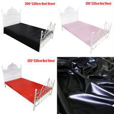 200*220cm Wet-Look Shiny PVC Vinyl Waterproof Bed Sheet for Adult Wet Game