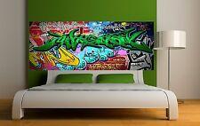 Carta dipinto testata del letto Graffiti 2 3676 Art déco Adesivi