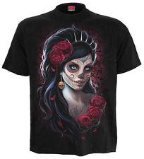 Espiral directo Día De Los Muertos t-shirt/goth/mexican / azúcar skull/rock/tee / Top