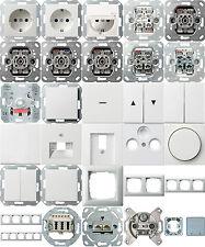 Gira System 55 reinweiß glänzend Steckdosen Schalter Rahmen nach Auswahl