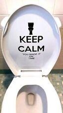 KEEP CALM Toilet Vinyl Decal Sticker Funny Bathroom Humor Wall Art choose color
