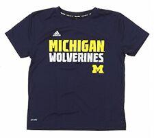 Adidas NCAA Kids (4-7) Michigan Wolverines Climalite Team Graphics Tee, Navy