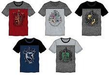 HOGWARTS Harry Potter Crest Hufflepuff Gryffindor Slytherin Ravenclaw tshirts