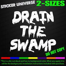 Drain the Swamp Funny Car Window Decal Bumper Sticker Trump Big Government 0500