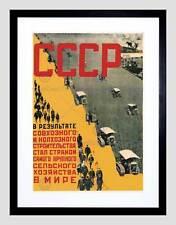 Unione Sovietica FATTORIA AGRICOLTURA TRATTORE RUSSIA CCCP URSS incorniciato stampa b12x1218