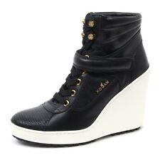 B4090 tronchetto donna HOGAN H249 scarpa stivaletto zeppa nero shoe boot woman