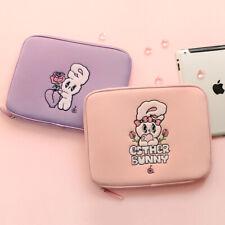 "Esther Bunny 10"" 11"" Soft Neoprene Tablet ipad Pouch Sleeve Zipper Bag 4pockets"