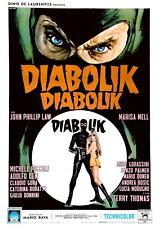 72268 DANGER: DIABOLIK Movie 1968 Spy Thriller Wall Print Poster Affiche