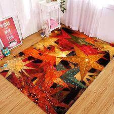 3D Christmas Xmas Maple Leaf 34 Non Slip Rug Mat Room Mat Quality Elegant Carpet