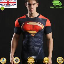 Camiseta para hombre de Compresión Gimnasio superhéroe Vengadores Marvel músculo Superman