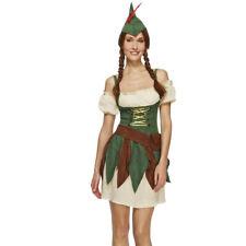 ROBIN HOOD donna costume Sagittaria RANGER diebin medioevo CARNEVALE