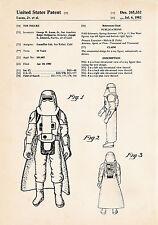 1982 Star Wars Poster Darth Vader Patent Prints Wall Art Gifts Anakin Skywalker