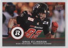 2016 Upper Deck CFL #63 Greg Ellingson Ottawa RedBlacks (CFL) RC Football Card
