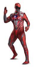 Disguise Power Rangers Red Ranger Movie Bodysuit Mens Halloween Costume 19232