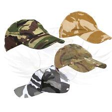 Niños Ejército Británico Estilo Ajustable Gorra de béisbol, desierto DPM, DPM, BTP & Urbana Camuflaje