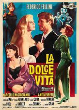CASA Wall Art Print-VINTAGE MOVIE FILM POSTER-LA DOLCE VITA 2-a4, a3, a2, a1