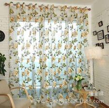 Peony Blumenmuster Tüll Vorhang Voile durchsichtig Stoffbahn Schal Fenster