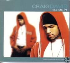CRAIG DAVID Fill Me In RARE RADIO EDIT PROMO DJ CD Single 2001 USA MINT