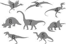 #M 8pcs DINOSAURS DINO Airbrush Stencil Teratosaurus Rex Armoured Mylar Reusable