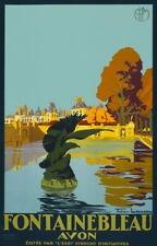 84299 Vintage 1920 Fontainebleau Avon France French Decor WALL PRINT POSTER DE