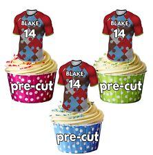 Camisetas De Rugby Precortada Personalizado Cup cake toppers decorations Arlequín Colores