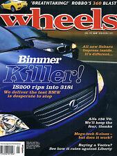 WHEELS Jun 99 Golf GTI 200SX 911 C4 318i IS200 Ferrari F360 Mercedes S320 MX5