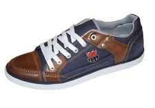 Sneaker Jeans-Stoff,stylisch,Marke RYT Tamboga,blau/braun,Größe 40,41,42,44,neu