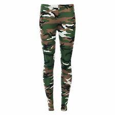 Ladies Womens Printed Skinny Full Length Stretchy Trouser Leggings
