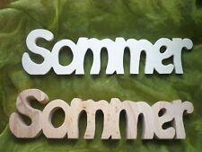 Schriftzug Sommer aus Buchenholz oder Sperrholz individuell gestalten Holzdeko
