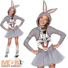 Bugs Bunny Girls Fancy Dress Rabbit Looney Tune Cartoon Kids Childrens Costume