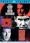 HUNT FOR RED OCTOBER /PATRIOT GAMES /CLEAR & PRESENT DANGER Jack Ryan 3-Disc DVD