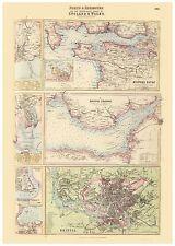 Old Vintage Bristol Swansea Cardiff Newport Milford Haven map Fullarton ca. 1872