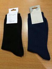THOUGHT (BRAINTREE) BAMBOO MENS' SOCKS - PLAIN SOCKS - BLACK & NAVY - BNWT