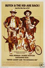 Butch Cassidy & the Sundance kid cult western movie poster print