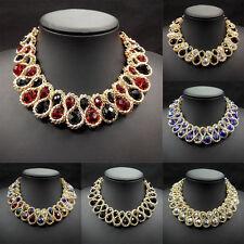 Womens Fashion Bib Pendant Chain Choker Collar Chunky Statement Necklace Jewelry