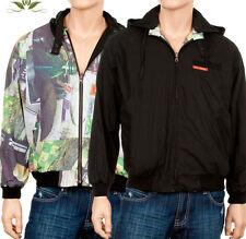 New Mens Hooded Outerwear 2-Side Coat Jacket Black M-XL