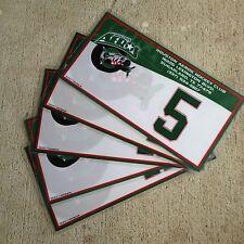 "Tag Up AHL Houston Aeros Bag Tags Numbers and Initals 4.5"" X 8"" 2119"