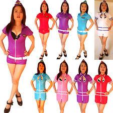 SEXY Airforce Stewardess/Air-Hostess Mini-Kostüm/Kleid Uniform Cosplay Gr. XS/S