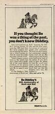 """1976 BO DIDLEY """"20TH ANIV OF ROCK N ROLL"""" ALBUM AD"""