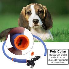 LED Halsband Hund Leuchtend alsband Blinkende Hundehalsband Hund Dekoration USB