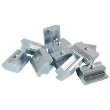 100x Nutenstein Nut 10 - Typ B - mit Steg, schwer, Stahl verzinkt