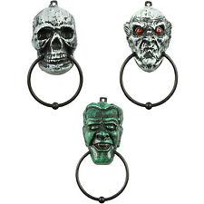 Halloween DOOR KNOCKERS Ghoul Skull Frankenstein Décoration Fête d'Halloween Porte