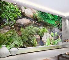 Papel Pintado Mural De Vellón Piedras Arbustos Patos 2 Paisaje Fondo De Pantalla