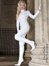 Lederhose Leder Hose Knalleng Weiß Größe 32 - 58 XS - XXXL