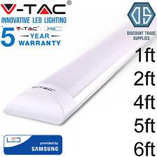 V-Tac LED Batten Tube Light Slim Fitting White 6400K 1ft 2ft 4ft 5ft 6ft VTAC